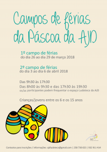 Cartaz CF AJD Páscoa 2018
