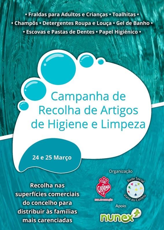 Cartaz 7ª Campanha Recolha Artigos Higiene e Limpeza_24 e 25 março